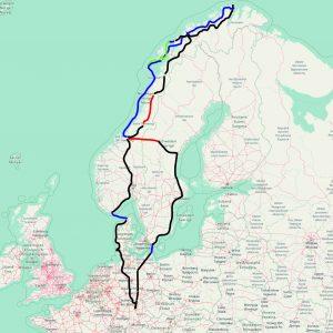 64 Tage - 7010 Kilometer, Tour zum Nordkap