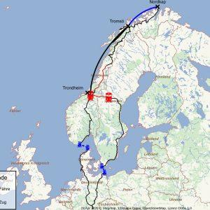 Karte der Tour